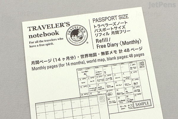 traveler s company traveler s notebook refill 006 passport size