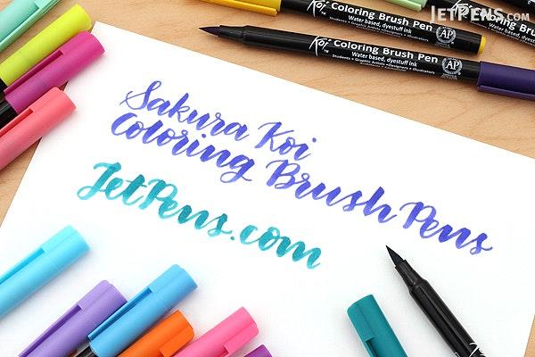 Sakura Koi Coloring Brush Pen - 12 Color Set - JetPens.com