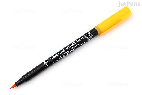 Sakura Koi Coloring Brush Pen - Deep Yellow (4) | JetPens
