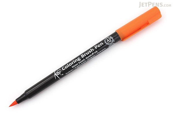 Sakura koi coloring brush pen orange 5 for Koi brush pen