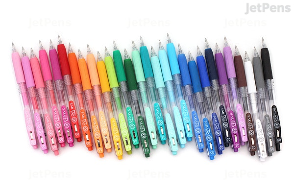 Zebra Sarasa Push Clip Gel Pen - 0.5 mm - 28 Color Bundle | JetPens