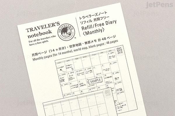 traveler s company traveler s notebook refill 017 regular size