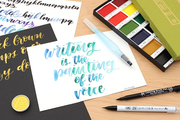 Watercolor calligraphy for beginners jetpens.com