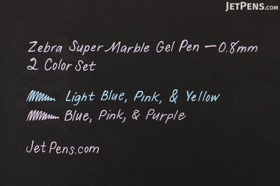 Zebra Super Marble Gel Pen 0 8 Mm 2 Color Set