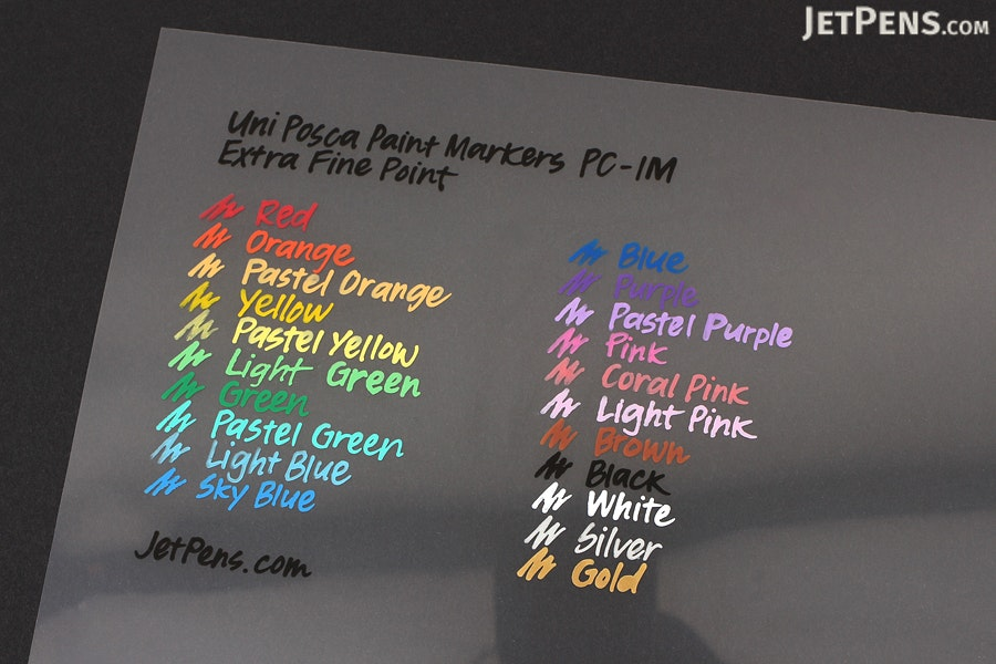 Uni Posca Paint Marker Pc 1m White Extra Fine Point