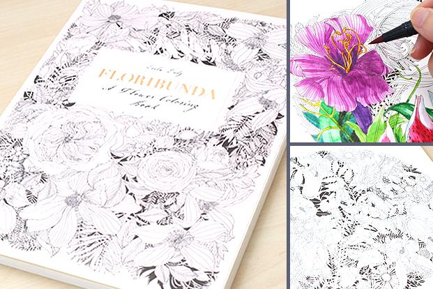 floribunda a flower coloring book - Botany Coloring Book