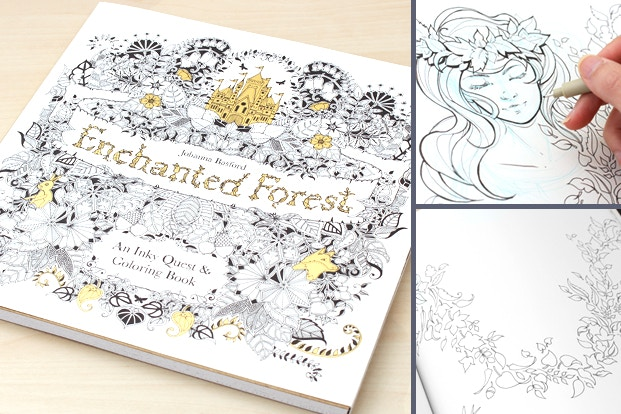Coloring Books Uni Posca Enchanted Forest