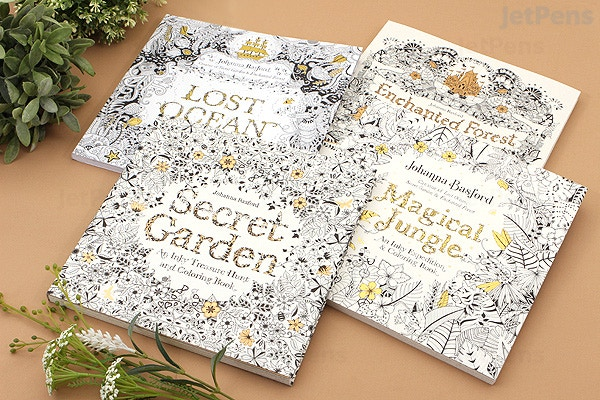 JetPens.com - Secret Garden: An Inky Treasure Hunt and Coloring Book -  Johanna Basford