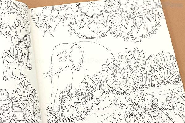 JetPens.com - Magical Jungle: An Inky Expedition & Coloring Book - Johanna  Basford