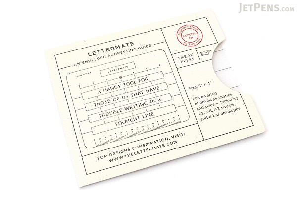 The Original Lettermate Envelope Addressing Guide