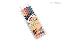 Marvy Le Plume II Double-Sided Watercolor Marker - 6 Color