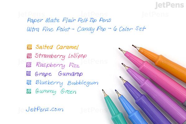 paper mate flair felt tip pen ultra fine point candy pop 6