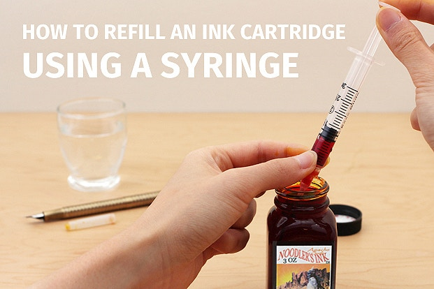 How to Refill an Ink Cartridge Using a Syringe | JetPens