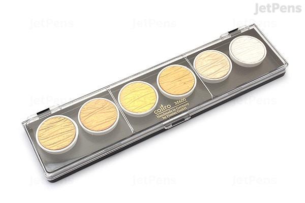 Coliro Watercolor Pearl Gold Silver 6 Color Set Jetpens
