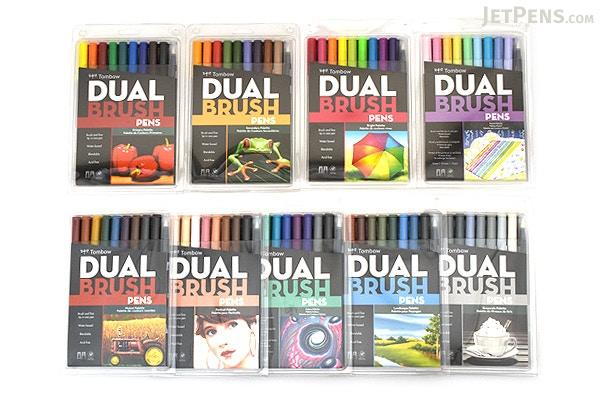 Tombow ABT Dual Brush Pen 10 Pen Set Pastel