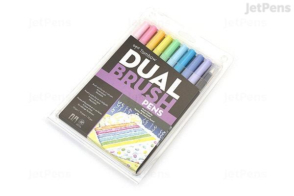 Tombow Abt Dual Brush Pen 10 Pen Set Pastel Jetpens
