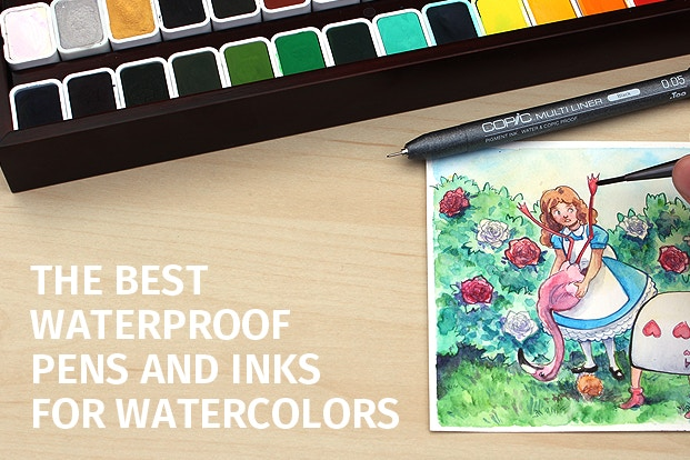 The Best Waterproof Pens And Inks For Watercolors Jetpens