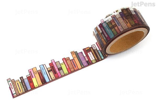 round top yano design washi tape debut series natural bookshelf round top yd