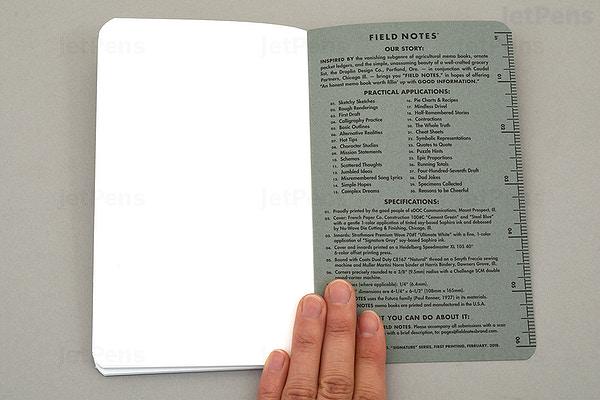JetPens com - Field Notes Signature Sketch Books - 6 5