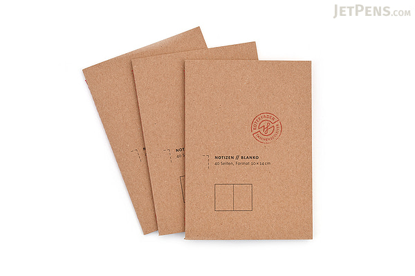 Roterfaden Note Booklets 3-Pack - A6 - Blank - JetPens.com
