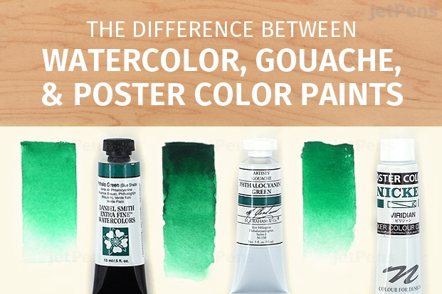 Watercolor Gouache And Poster Color