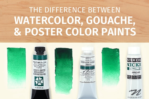 The Difference Between Watercolor, Gouache, and Poster Color Paints