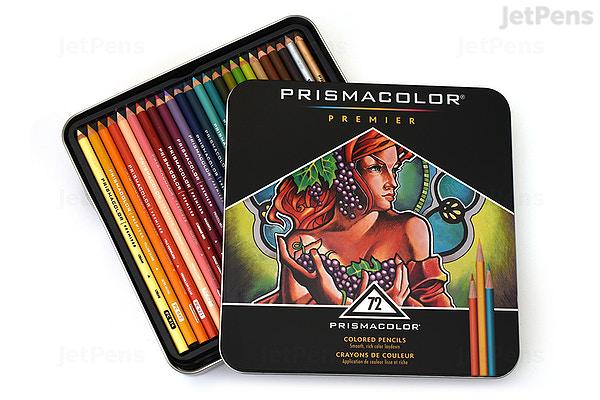prismacolor premier colored pencil 72 color tin set jetpens com