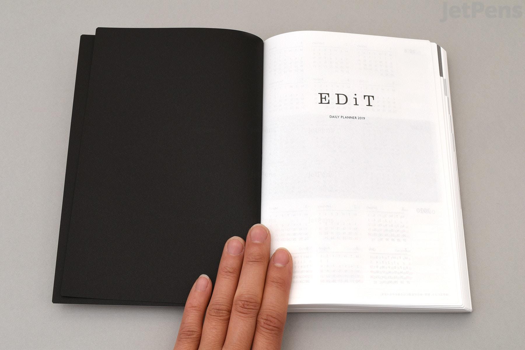 Marks Edit Daily Planner 2019 Refill B6 2 Books Ballpoint Pen Tip And Diagram