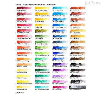 sakura koi watercolor studio box set 60 color palette 2 water