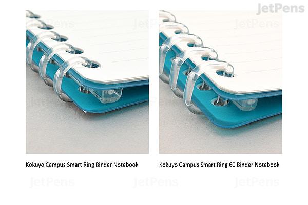 JetPens com - Kokuyo Campus Smart Ring Binder Notebook - B5 - 26 Rings -  Clear