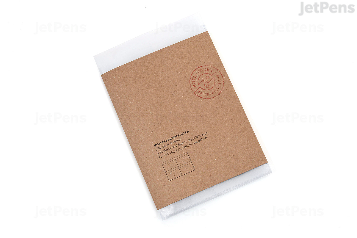 Jetpens Com Roterfaden Business Card Protector A5 Pack Of 2