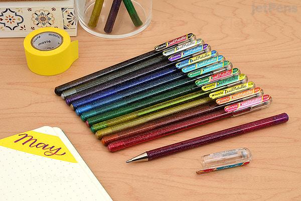 JetPens com - Pentel Hybrid Dual Metallic Gel Pen - 1 0 mm - 8 Color Set