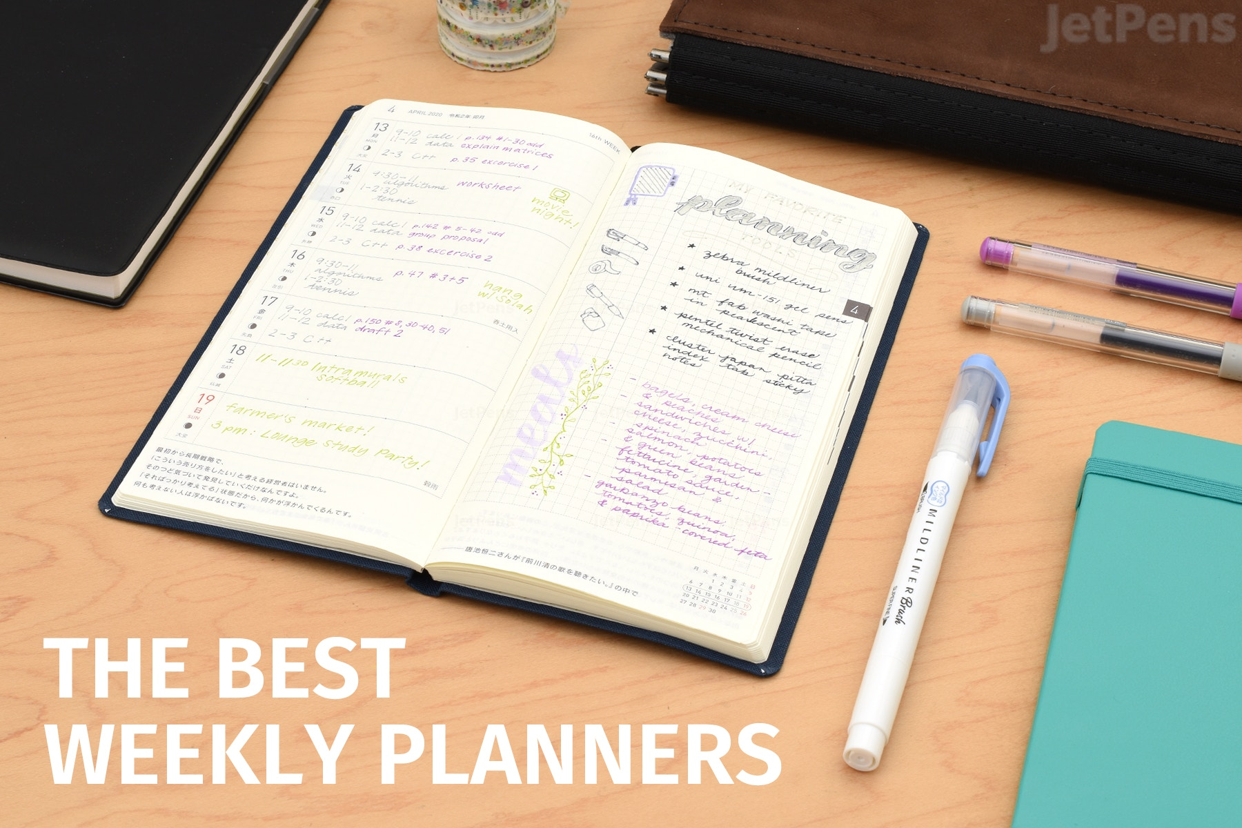 The Best Weekly Planners For 2020 Jetpens