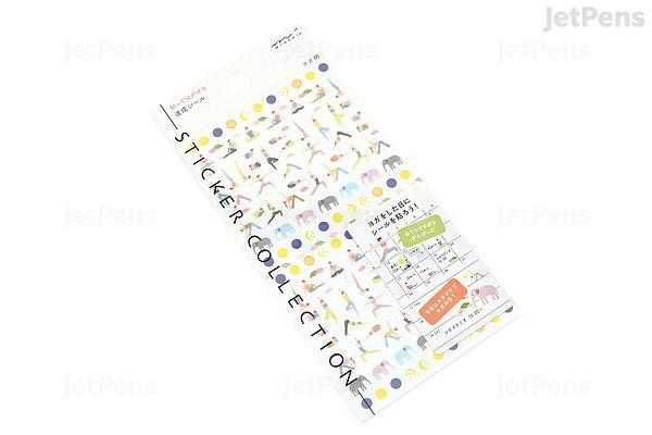 Super Midori Seal Collection Planner Stickers - Removable - Achievement VF-41